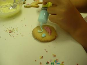 decorando las galletas 13-7-2014